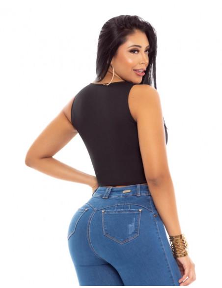 blusa capoheira negra trasera bl4282